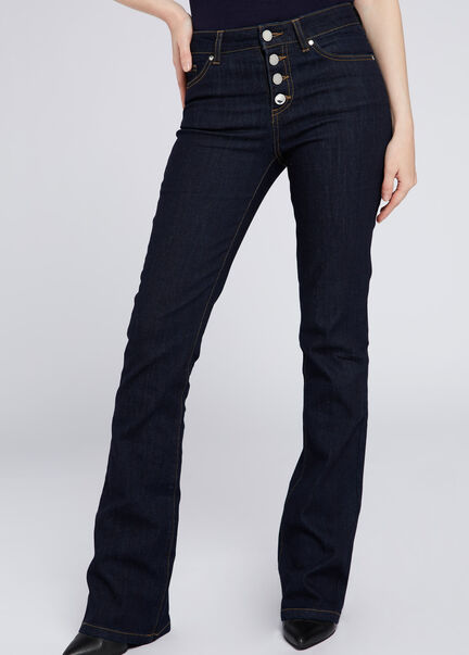 Jeans bootcut 4 boutons jean brut femme