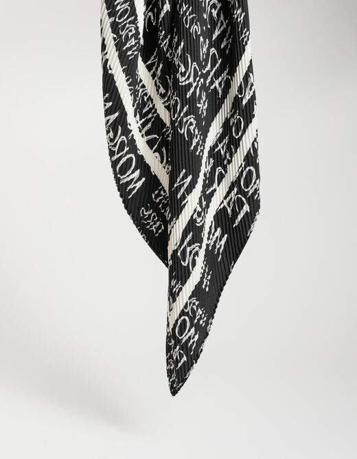 Foulard à inscription « MORGAN PARIS » noir femme