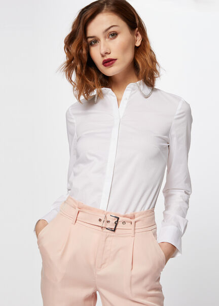 Chemise a col claudine irise blanc femme
