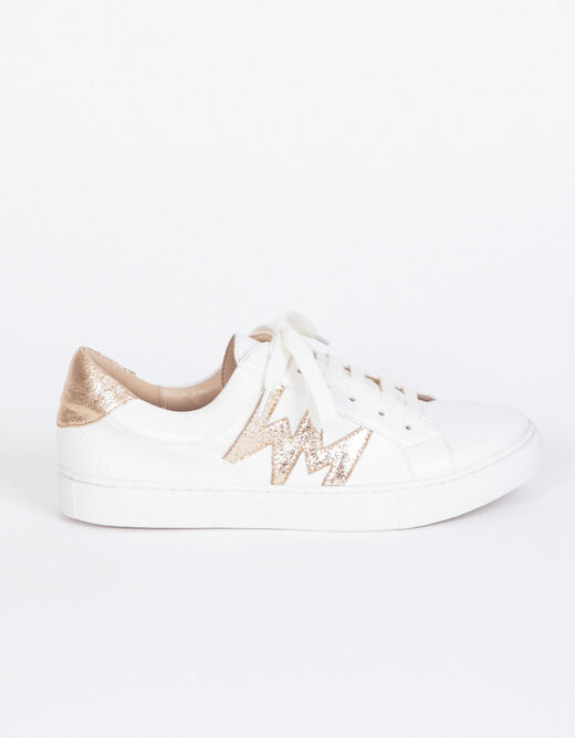 Sneakers plates blanc femme