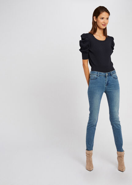 Jeans slim taille standard a poches jean double stone femme
