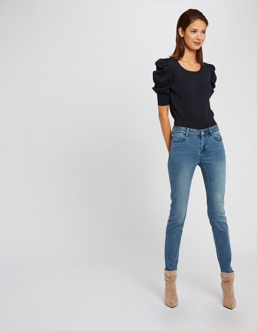 Jeans slim taille standard à poches jean double stone femme