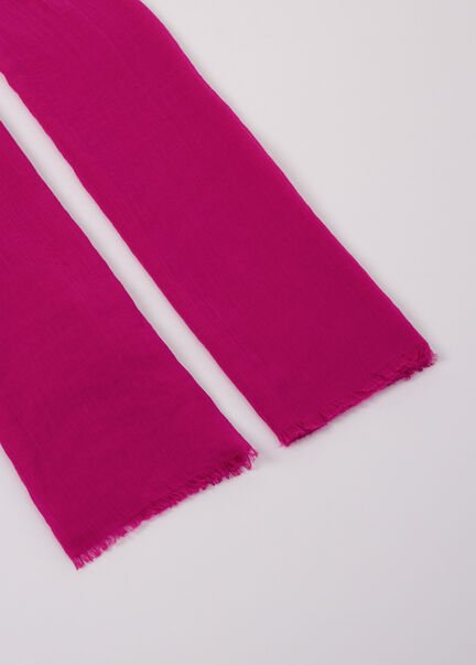 Foulard a bords francs rose femme