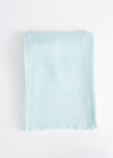 Foulard a bords francs turquoise femme