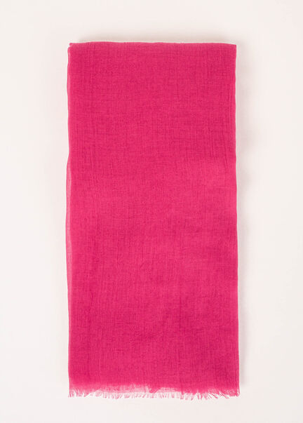 Foulard a bords francs fuchsia femme
