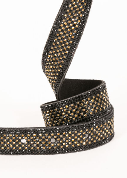 Ceinture a strass noir femme