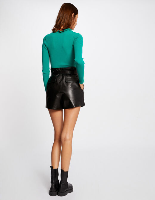 Pull manches longues vert femme