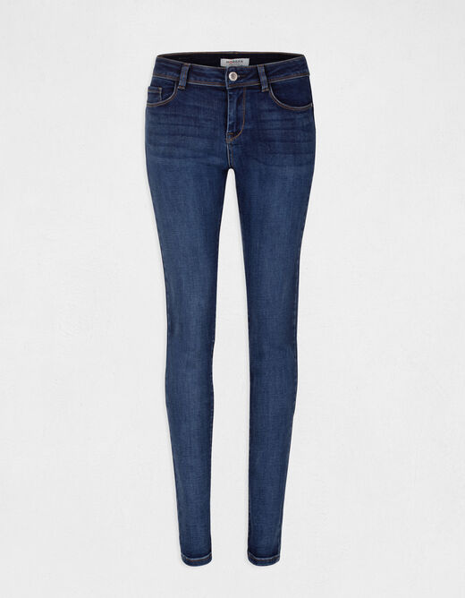Jeans slim taille standard à poches jean stone femme